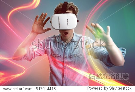 Man with vr glasses