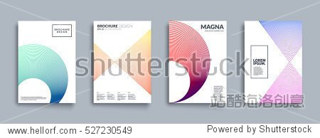 Covers with geometric line shapes. Applicable for Banners, Placards, Posters, Flyers and Banner Designs. Eps10 vector template.