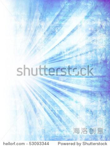 Blue grunge burst background