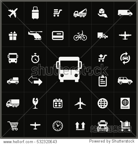bus transport icon. delivery icons universal set for web and mobile