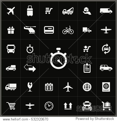 timer icon. delivery icons universal set for web and mobile