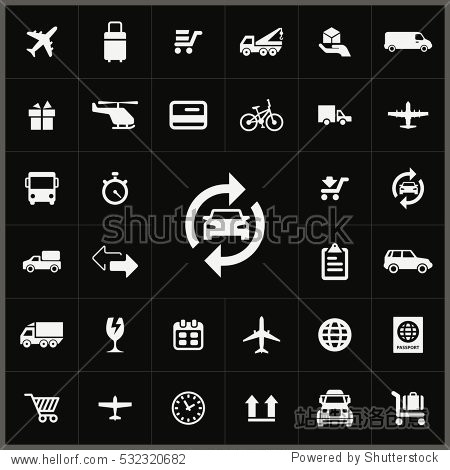 delivery icons universal set for web and mobile