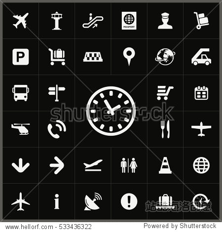 time icon. airport icons universal set for web and mobile