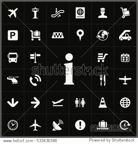 information sign icon. airport icons universal set for web and mobile