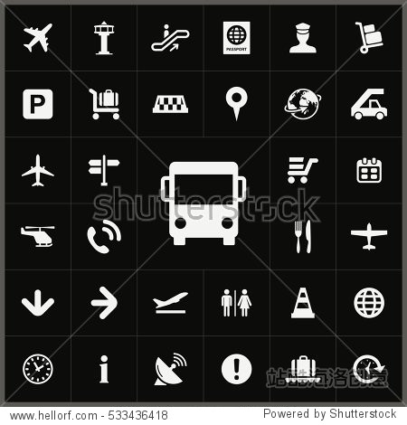 bus icon. airport icons universal set for web and mobile