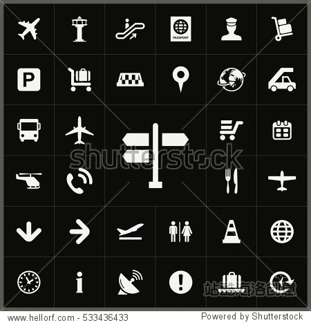 pointer icon. airport icons universal set for web and mobile