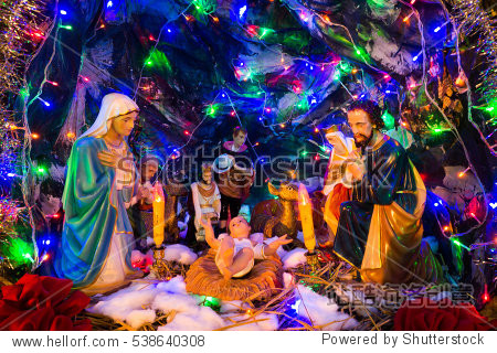 Christmas eve statue jesus birth