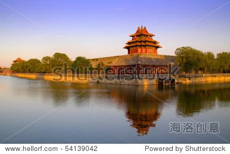 Forbidden city in Beijing viewed from Jinshan Park