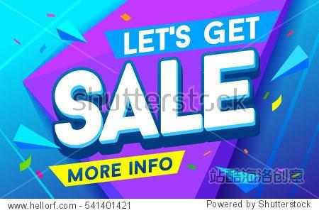 Let's get sale banner. Sale and discounts. Vector illustration. Sale Flyer design. Biggest sale poster Design banner