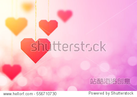 red heart on bokeh background