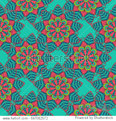 Colorful VECTOR mandala flower pattern