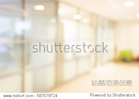 unfocused office place  blur background