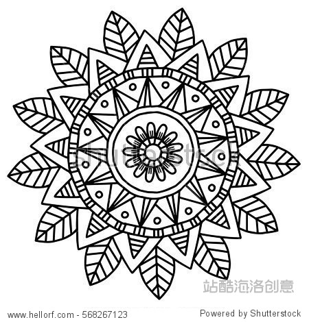 Vector image for adult coloring book Mandala Hand drawn doodle picture