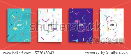 Covers with minimal design. Cool geometric backgrounds for your design. Applicable for Banners  Placards  Posters  Flyers etc. Eps10 vector template.