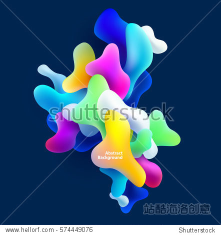 Abstract colorful shapes. Vector background
