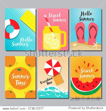 Summer  layout design  cover book  banner  card  vector illustration.