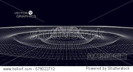 Abstract concept design of space ripple. Vector illustration for science  technological design.