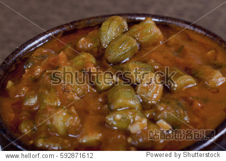 Okra an Famous Egyptian dish called Bamia
