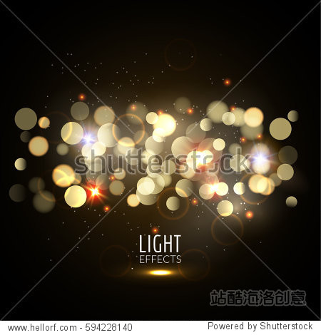 Blurred bokeh glitter and glow vibrant background. Vector light effect sparkles design. Abstract background.