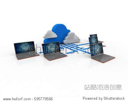 3d rendering cloud Computer network