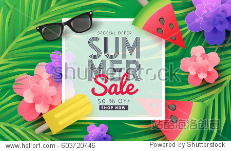 Summer sale background layout for banners Wallpaper flyers  invitation  posters  brochure  voucher discount.Vector illustration template.