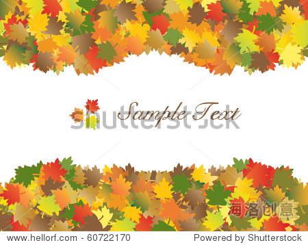 Autumn maple leaves frame