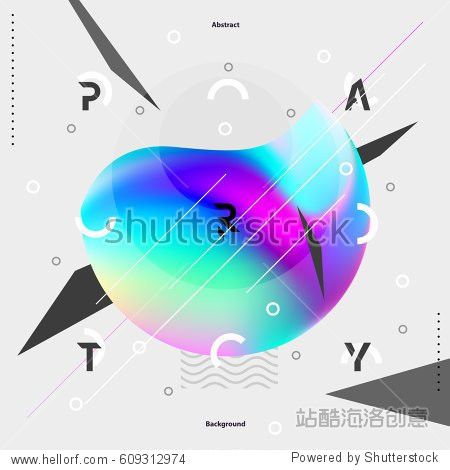 Abstract colorful poster for party