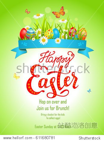 Bright easter card