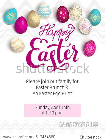 Easter red holiday template