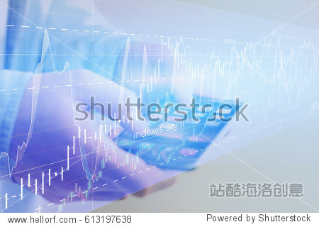 View of Stock exchange trading data information going out the smartphone of a businessman - Financial concept