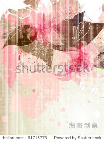Color floral wash series