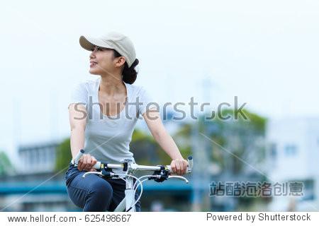 Woman riding a bike  cycling