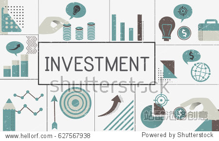Illustration of financial business chart investment