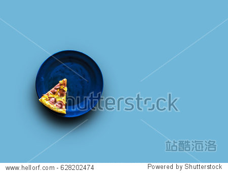 Slice of italian cuisine pizza