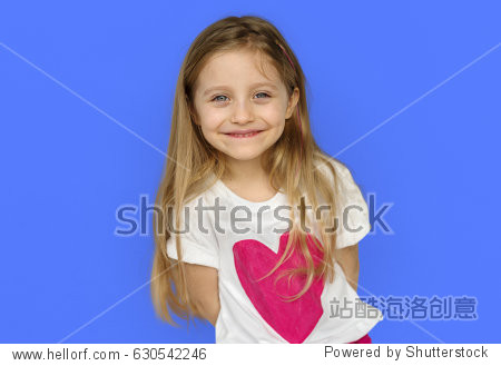 Little Girl Smiling Happy Cheerful