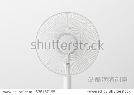 electric fan on white