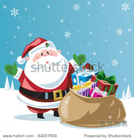 Santa Claus & toy bag