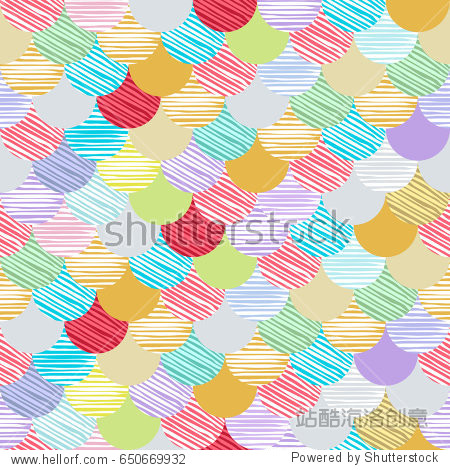 Abstract colorfull wave seamless pattern. the fabric. Scales art