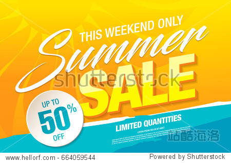 summer sale template banner  vector illustration
