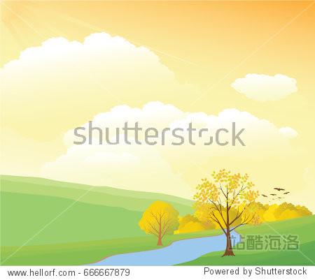 Rural autumn day