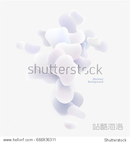 Plastic white shapes. Abstract background