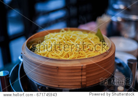 Hot Noodle on japanese bowl