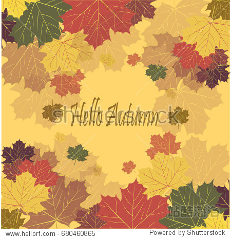 Autumn leaves vector images