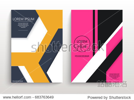 Covers with minimal design. Geometric backgrounds for your design. Applicable for Banners  Annual Report  Magazine  Poster  Corporate Presentation  Portfolio  Flyer  layout. Eps10 vector template