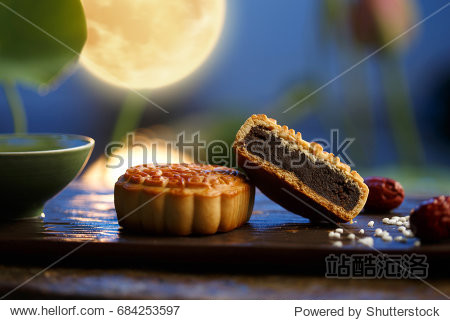 Moon cakes the text on the moon cake is the name of the filling