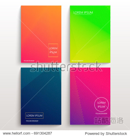 Set of cards with blend liqud colors. Futuristic abstract design. Usable for banners  covers  layout and posters. Vector.