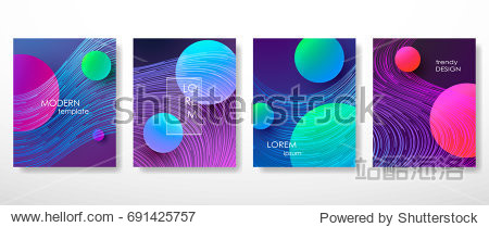 Minimal covers design gradients  lines  shapes. Tech cover futuristic banner  future template abstract flyer  poster trendy minimalist brochure. Vector geometric illustration
