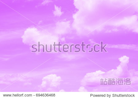 Colorful sky light violet  and soft clouds for background and postcard.Abstract and pastel color.