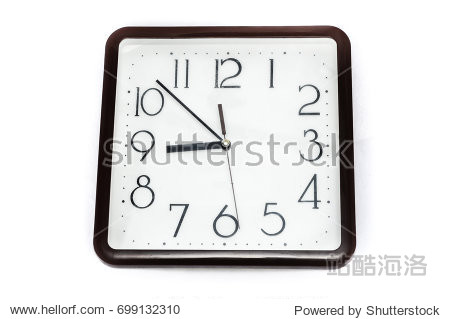 Vintage clock for looking times