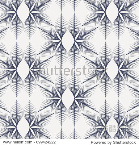 linear vector pattern  repeating abstract leaves  blue line of leaf or flower  floral. graphic clean design for fabric  event  wallpaper etc. pattern is on swatches panel.